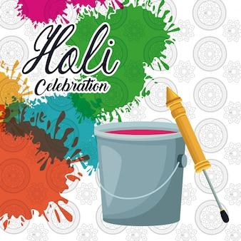 Holi celebration design