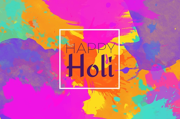 Holi festival background in watercolor