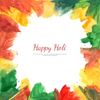 Holi festival background with painting splash