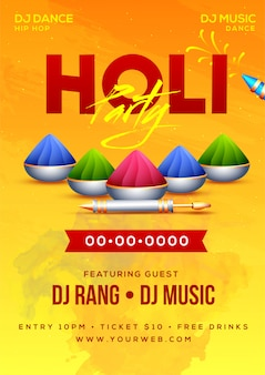 Holi festival background.