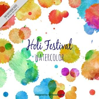 Holi festival colorful splashes background