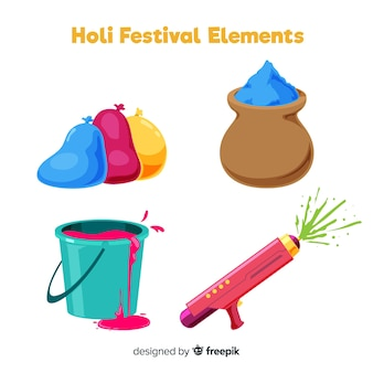 Holi festival element collection