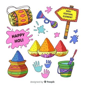 Holi festival element collection