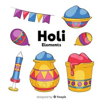 Holi festival element pack