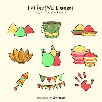Holi 축제 요소 팩