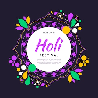 Holi festival in flat design