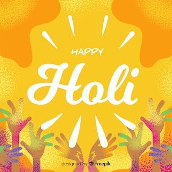Holi festival hands background