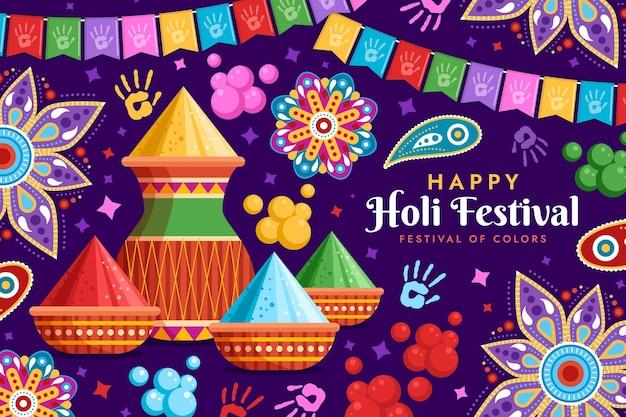 ホーリー祭のイラスト