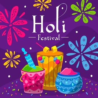 Иллюстрация фестиваля холи