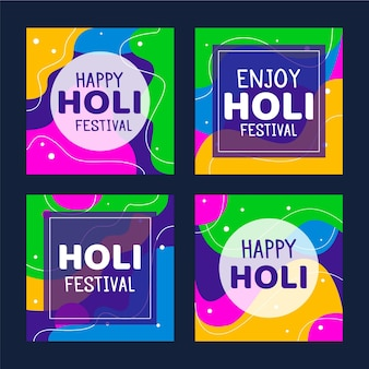 Holi festival instagram posts collection