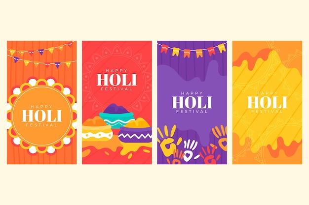Holi festival instagram stories concept