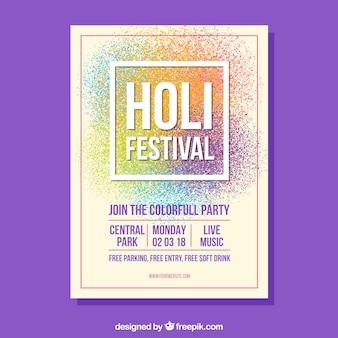 Праздничный праздник фестиваля holi