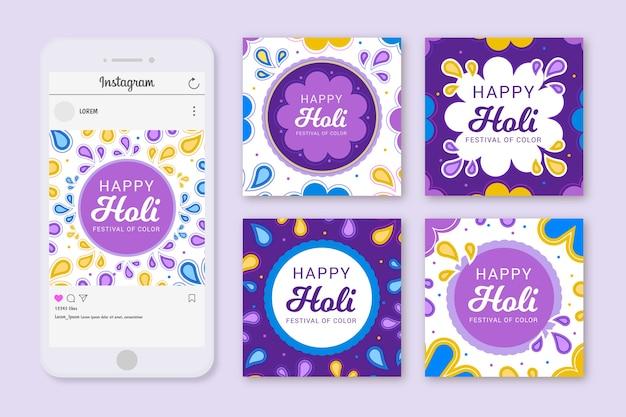 Holi festival posts set