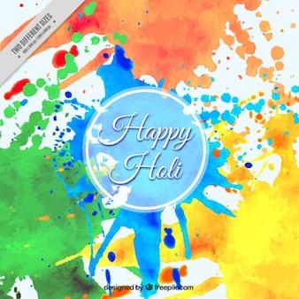 Holi festival watercolor background