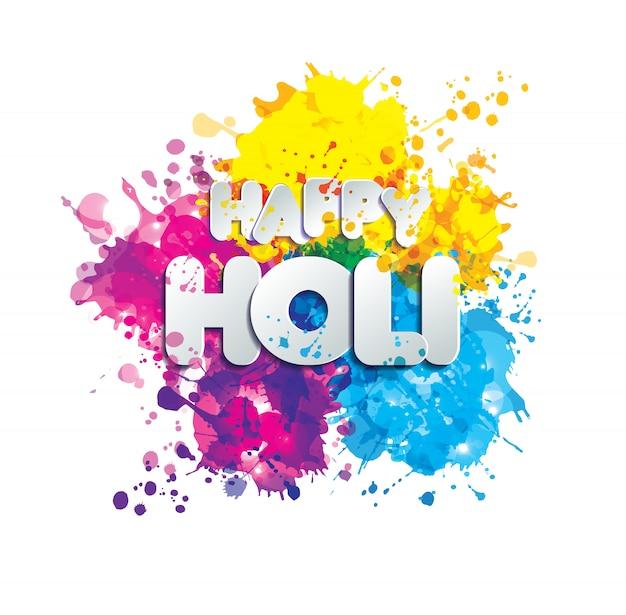 색상 벡터 디자인 요소의 holi 봄 축제