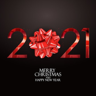 Holiday 2021 new year and merry christmas background. vector illustration