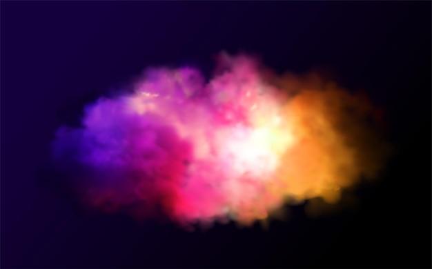 休日の抽象的な光沢のある色のパウダークラウドデザイン要素