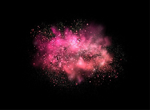 Holiday abstract shiny pink powder design element