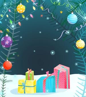 Праздник фон на рождество или новый год