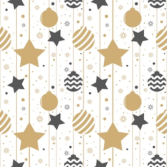 Holiday background, seamless pattern with stars.