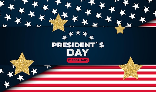 Holiday background with balloons for usa president`s day poster
