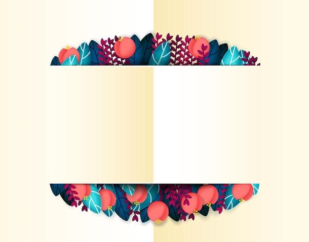 Праздничный фон с цветами и листьями