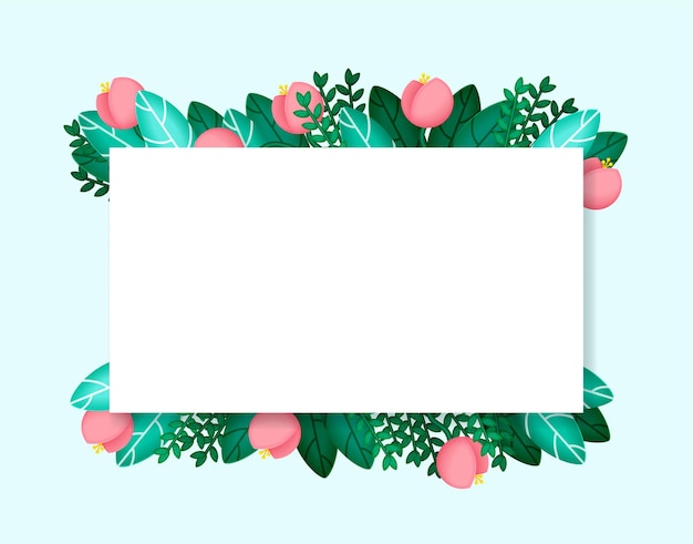 Holiday background with flowers and leaves exotic plants for cards wedding invitation