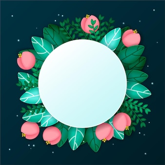 Holiday background with flowers and leaves
