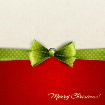 緑の水玉模様の弓と休日の背景
