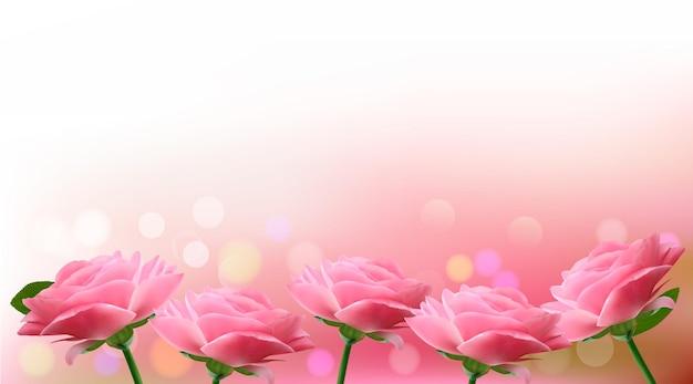 핑크 꽃과 휴일 배경입니다. 삽화