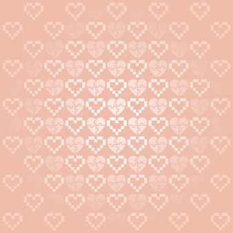 Holiday background with pink hearts