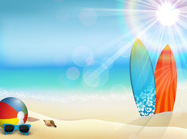 Holiday in beach on the summer