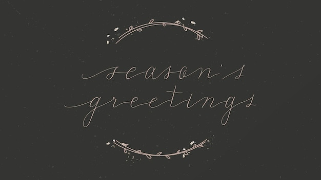 Holiday card with floral border background