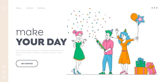 Праздник празднования шаблона целевой страницы.