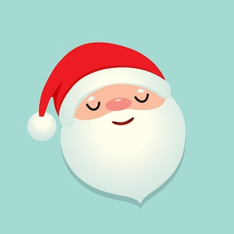 Holiday christmas background with santa claus cartoon.