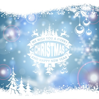 Holiday christmas frame