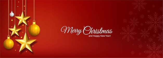 Holiday christmas and new year greetings banner
