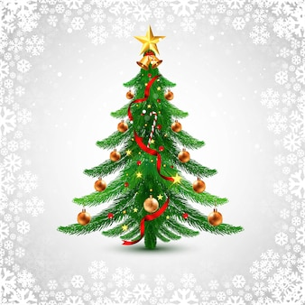 Holiday decorative christmas tree greeting card background