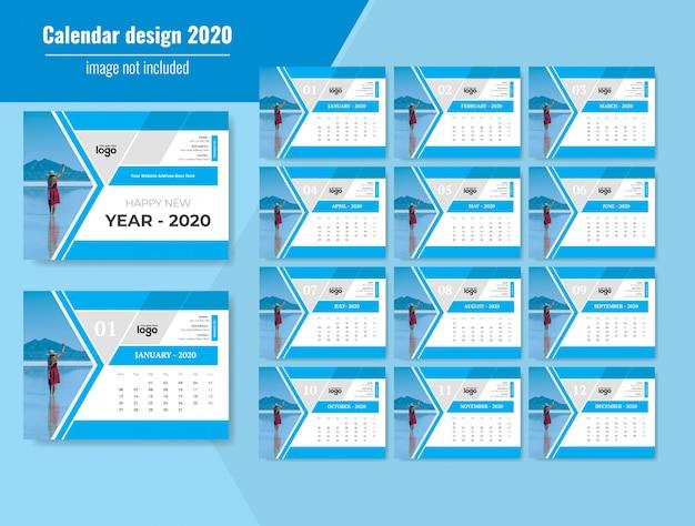 Holiday desk calendar 2020