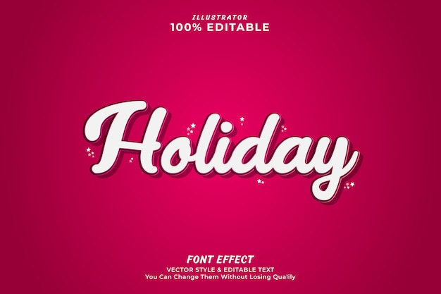 Holiday editable text effect