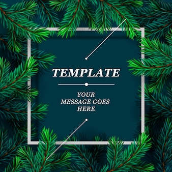 Holiday frame template illustration