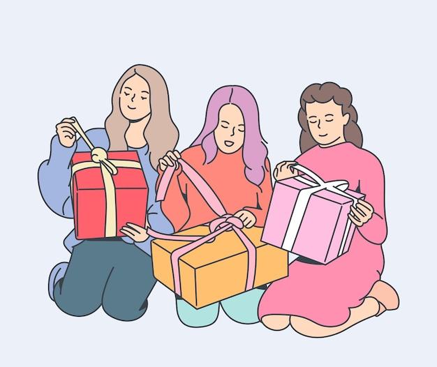Holiday gift celebration concept
