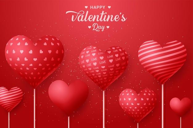 Праздничное поздравление на день святого валентина с сердечком из воздушного шара