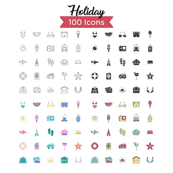 Holiday icon set.