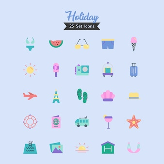 Holiday icon vector flat style