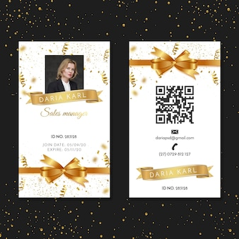 Holiday id card for sales manager