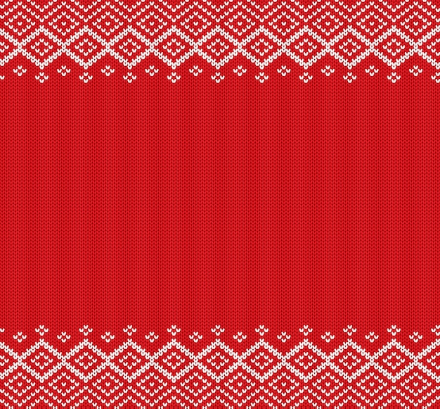 Holiday knitted geometric ornament knit christmas winter sweater design.
