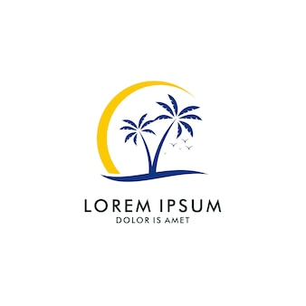 Holiday logo design template
