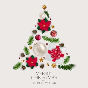 휴일 새 해와 메리 크리스마스 배경입니다. 벡터 일러스트 레이 션