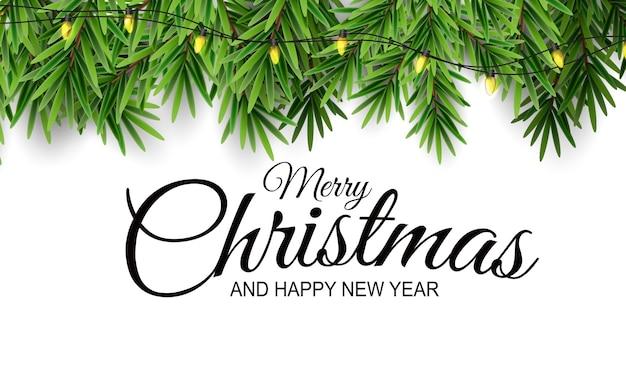 休日の新年とメリークリスマスの背景。
